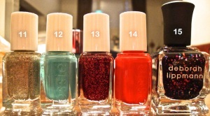Essie Winter Collection 2012 Mini Set: Beyond Cozy, Where's My Chauffeur?, Leading Lady, Snap Happy, and Deborah Lippman: Let's Go Crazy