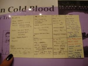 My agenda!